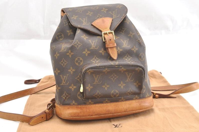 4b095997daa97 Authentic Louis Vuitton Brown Monogram Canvas Montsouris MM