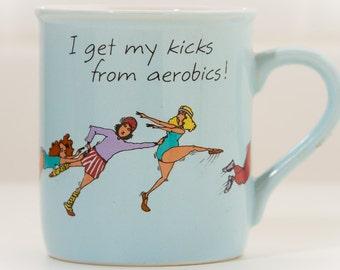80s AEROBICS Coffee Mug | KItsh Eighties Humor | Gift