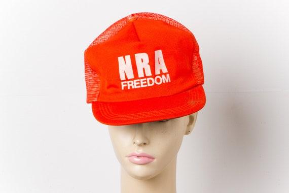 vintage NRA FREEDOM mesh trucker hat | 80s USA