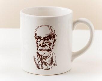 Vintage Sigmund Freud Coffee Mug (c.1980s) || Psychoanalysis | Oedipus complex | Interpretation of Dreams