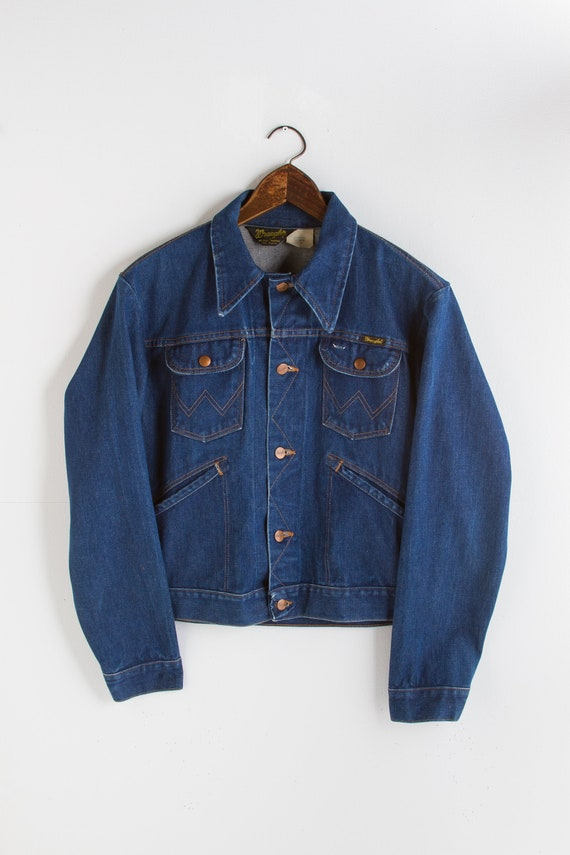 vintage WRANGLER denim jacket | 70s rock n' roll c