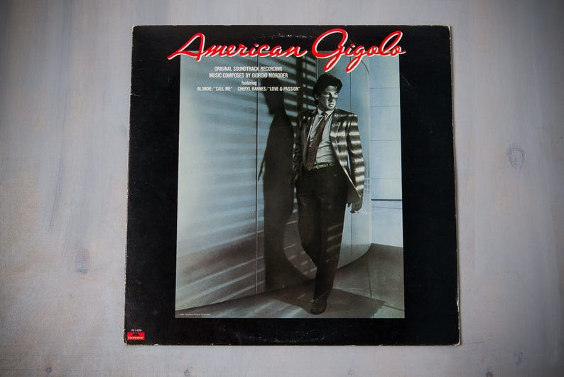 AMERICAN GIGOLO | Original Motion Picture Soundtrack (Polydor 1980) |  Vintage Vinyl Record LP | Blondie Call Me