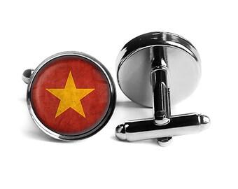 Vietnam Map Shape Cufflinks