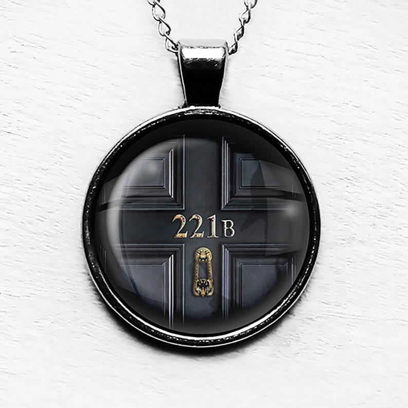 Sherlock Holmes 221B Pendant Necklace