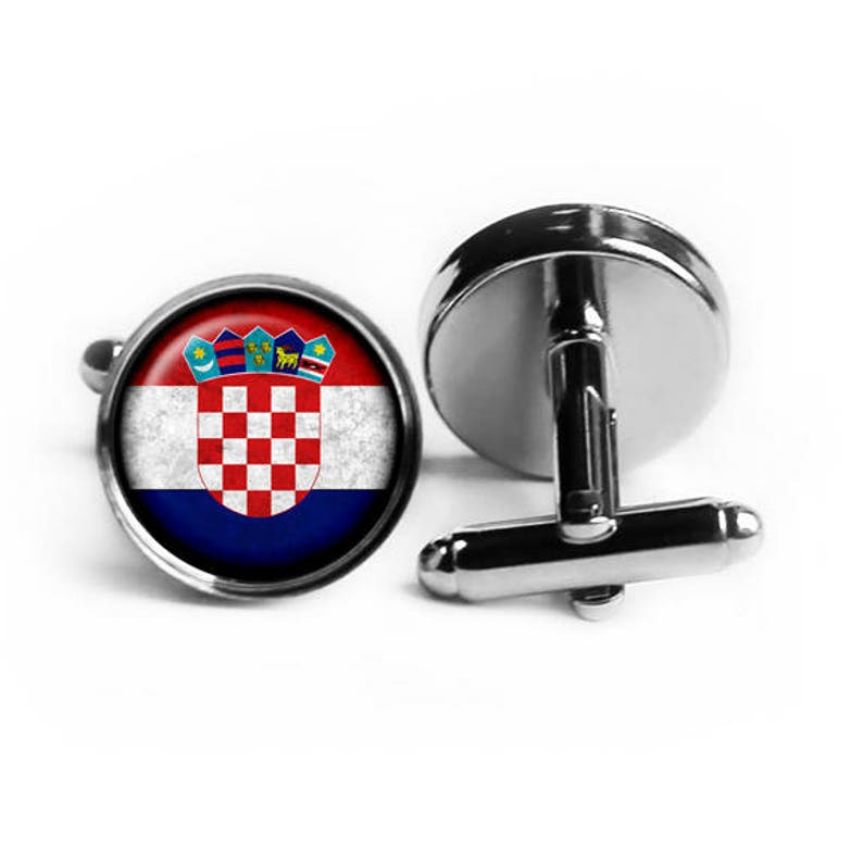 Croatia Croatian Flag Cufflinks
