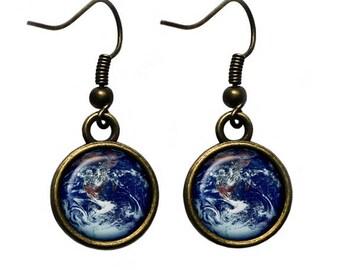 NASA Photograph Earth Wonder Earrings