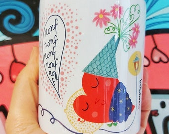 Cups with heart | Ceramic cups