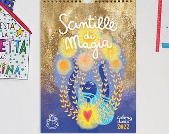 Wall calendar 2022 Sparks of Magic | Burabacio