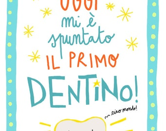 "Poster Printable ""my first tooth"" digital file"
