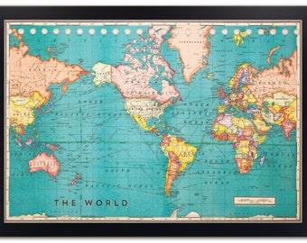 Corkboard map etsy cork board world map framed cork board map world map map on cork cork board map world map cork board travel map push pin map gumiabroncs Images