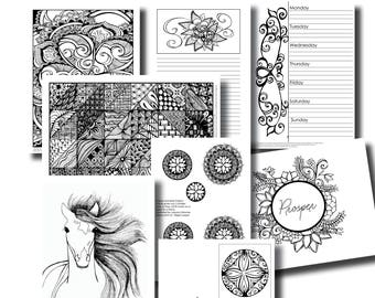November Week 2 Platinum Subscription Package - Colouring In Pack