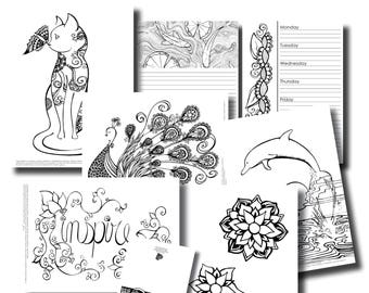 October Week 1 Platinum Subscription Package - Colouring In Pack