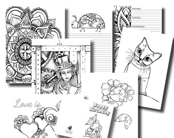 October Week 3 Platinum Subscription Package - Colouring In Pack
