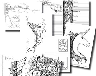 October Week 5 Platinum Subscription Package - Colouring In Pack