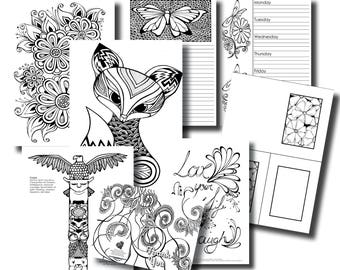 October Week 4 Platinum Subscription Package - Colouring In Pack
