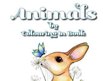 Animals by Colouring in Book