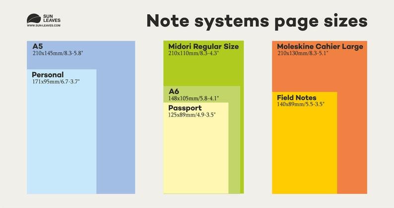 GRID 5mm A5 notebook Dot Grid Notebook Fauxdori midori travel journal Notebook Refillable Journal notebook sketchbook 8 sizes 28 colors