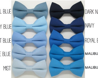 d978d518acee Blue bow tie,Light blue bow tie,Malibu bow tie,Teal Blue bow tie,Royal Blue  bow tie,Navy bow tie,Mist bow tie for Men,Toddlers ,Boys,baby