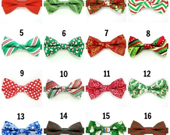 christmas bow tie etsy