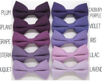 03811df77550 Purple bow tie,Grape bow tie,Iris bow tie,Wisteria bow tie,Lavender bow tie,Violet  bow tie ,Plum bow tie for Men,Toddlers ,Boys,baby