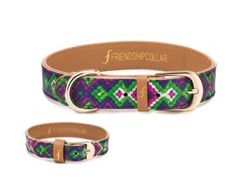 Friendship Collar FriendshipCollar-  All Bark No Bite - Dog & matching bracelet -Dog and matching friendship bracelet #friendshipcollar