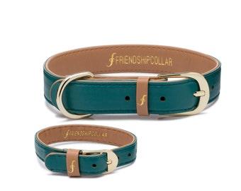 Friendship Collar FriendshipCollar-The Classic Pup Racing Green FriendshipCollar-Dog and matching friendship bracelet #friendshipcollar