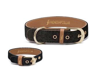 Friendship Collar FriendshipCollar-  Great Genes – Black Wash - Dog FriendshipCollar and matching friendship bracelet #friendshipcollar