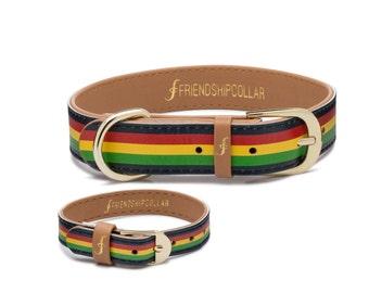 Friendship Collar FriendshipCollar- The Rasta Pup - Dog FriendshipCollar and matching friendship bracelet #friendshipcollar
