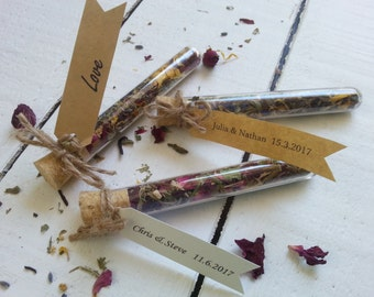 Wedding Favour Test Tube with loose leaf Tea, Wedding Favour Tea, Wedding Bonbonniere, Wedding Test Tube Favours, Corporate Gift Favours