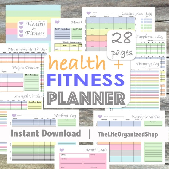 Fitness Planner Health Journal Weekly