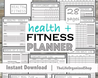 Fitness Planner/ Health Planner - From the Minimalist Collection