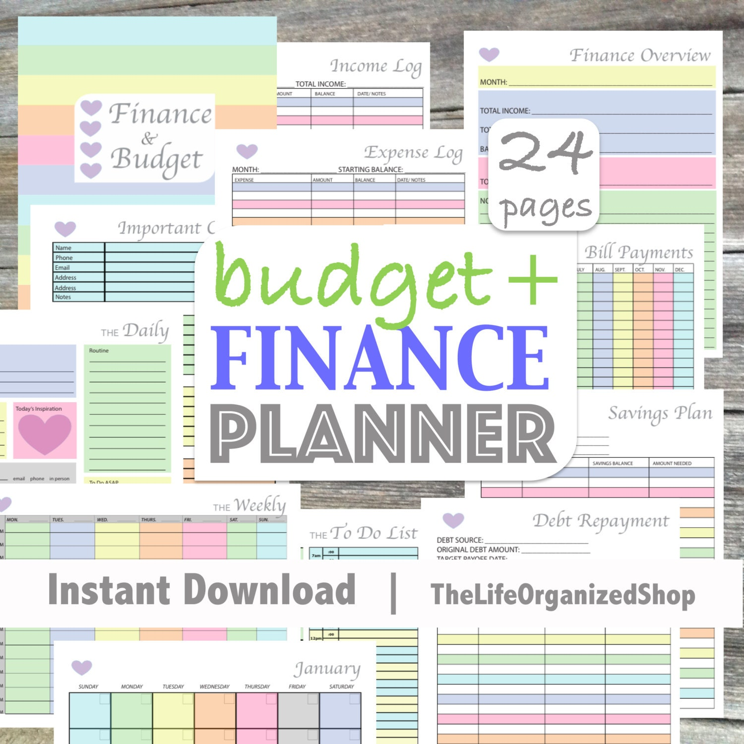 student budget planner template