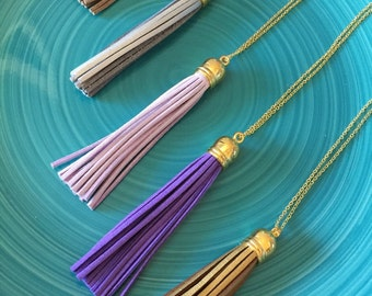 Leather Tassel Necklace