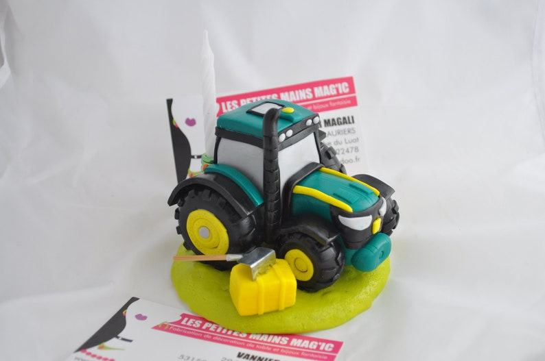 Cake Topper Or Stand For Tractor Birthday Door
