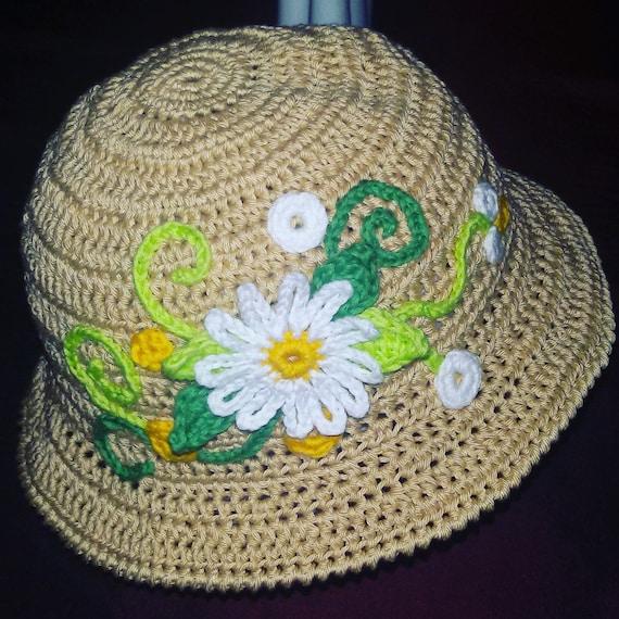 Cappellino Estivo Alluncinetto Per Bambina Con Ricamo Etsy