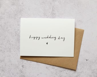 Happy wedding day // Greeting card
