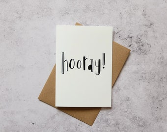 Hooray! // Greeting Card