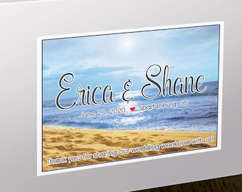 """4"""" x 3""""  Personalized Welcome Box Labels -  30 Wedding Welcome Bag Labels - Favor Labels - Welcome Stickers - Box Stickers - Beach"""