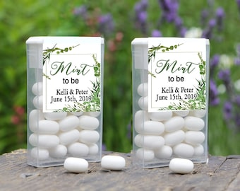 Mint To Be Tic Tac Label, Tic Tac Favors, Wedding, Bridal Shower Favors, Personalized Favor, Tic Tac Wedding Mint Favors, Greenery