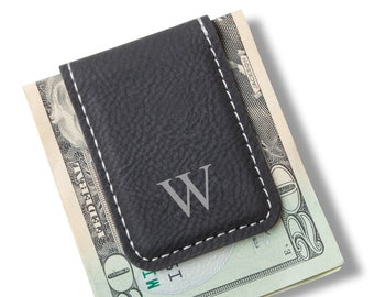 Magnetic Leather Money Clip | Groomsmen Gifts | Personalized Money Clip | Groomsmen Gifts | Engraved Money Clip | Christmas Gift