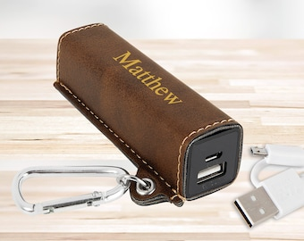 Personalized Portable Power Bank with USB | Groomsmen Gifts | Gifts for Him | Husband Gift | Boyfriend Gift | Gift for Her | Christmas Gift