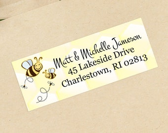 Bees Baby Shower Address Labels - Personalized Return Address Labels -  Address Sticker - Address Label Sticker - Custom Address Labels