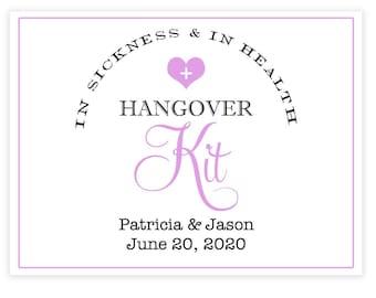 Bachelorette Party Survival Kit Labels - Hangover Survival Kit - 3. x 4 Bachelorette Bag Labels - Welcome Box - Bachelorette Weekend Favors