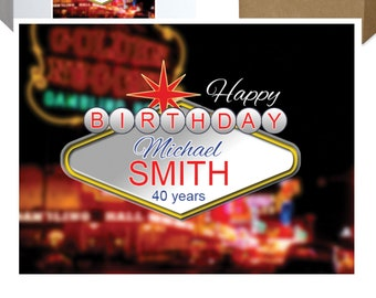 Personalized Welcome Box Labels -   Birthday Welcome Bag Labels - Welcome Stickers - Box Stickers - Birthday in Las Vegas