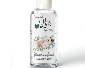 Purell hand sanitizer labels 2 oz. size - Bridal Shower Labels - Hand Sanitizer Labels - Bridal Shower Decor - Spread Love...
