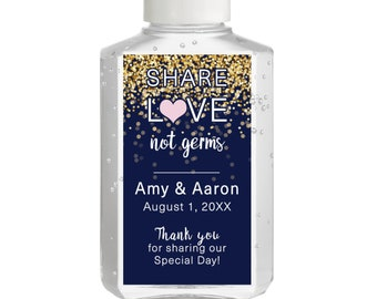 Hand Sanitizer Labels - Sparkle  - Bridal Shower Labels - Wedding Shower - Rehearsal Dinner  - Baby Shower - Wedding sanitizer labels