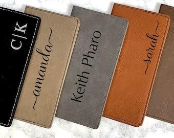 Personalized Checkbook Cover, Leather Checkbook, Checkbook Wallet and Holder, Checkbook Case, Custom Checkbook, Custom Checkbook Covers