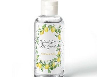 Vintage Botanical Lemon Hand Sanitizer Labels | Rectangular Labels | Baby Shower| Bridal Shower | Wedding Shower
