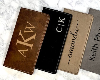 Personalized Checkbook Covers, Leather Checkbook, Checkbook Wallet and Holder, Checkbook Case, Custom Checkbook, Custom Checkbook Covers