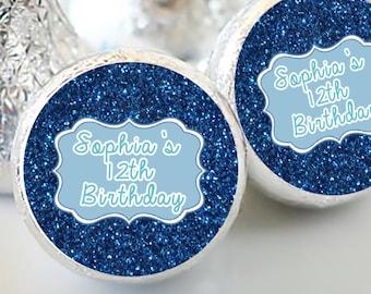 108 Birthday Hershey Kiss® Stickers - Birthday Hershey Kiss Stickers- Birthday Kiss Labels - Hershey Kiss Seals - Candy Stickers